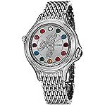 Fendi Women's F105036000D3T02 Crazy Carats Analog Display Swiss Quartz Silver Watch
