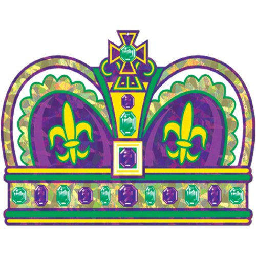 Prismatic Mardi Gras Crown Cutout Party Accessory (1 count)