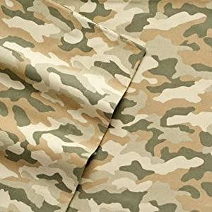Cuddl Duds Camo Flannel Sheet Set - FULL Camouflage Sheets