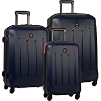 Timberland Gilmanton 3 Piece Hardside Spinner Luggage Set (Blue)