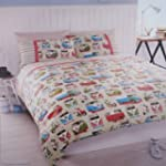 VW Camper Van & Scooter Double Duvet Set