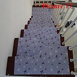 13 Modern Stair Treads Mat Stair Carpet Non-slip Self Step Area Rugs Home Decor Color:17 Size:50cm20cm