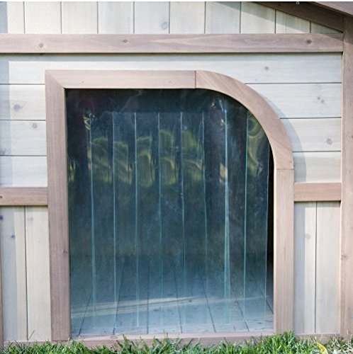Extra large solid wood dog houses suits two dogs or 1 for 2 door dog house