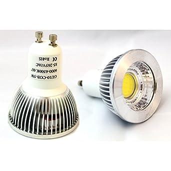 ampoule spot led led gu10 5w cob epistar blanc blanc froid pour variateur luminaires. Black Bedroom Furniture Sets. Home Design Ideas