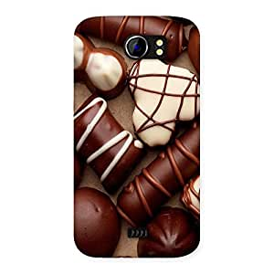 Ajay Enterprises Choclate an sweets Back Case Cover for Micromax Canvas 2 A110