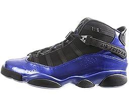Jordan 6 Rings Men\'s Basketball Shoes (10.5, Black/Varsity Royal)