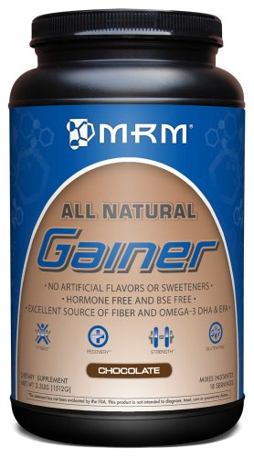 MRM All Natural Gainer MRM 100% ALL NATURAL GAINER, CHOCOLATE, 3.3LB Tub