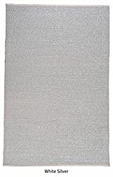 The Rug Republic Luxor Hand Woven Recycled Full Grain Leather Rug