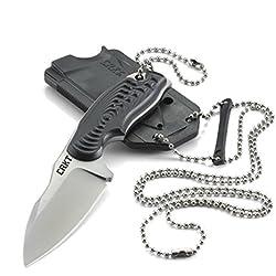 CRKT CR2804 Civet Drop Punkt 8Cr13MoV Messer mit feststehender Klinge