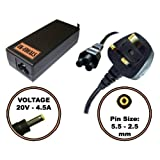 UK-EDEALS - Top Quality Charger replacemnet for 20V 4.5A ADVENT 6552 LAPTOP BATTERY CHARGER AC ADAPTER Ordinateur portable Adaptateurs Chargeur Pour with LEAD POWER CORD CABLE