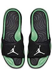 Nike Jordan Hydro IV 4 705163-030 Black/White/Light Green Spark Men's Slides