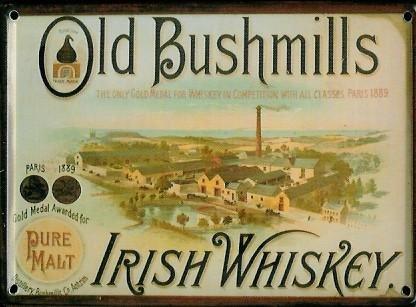old-bushmills-mini-plaque-plaque-de-tole-carte-postale-irish-whiskey-8-x-11-cm-nostalgie-retro-plaqu