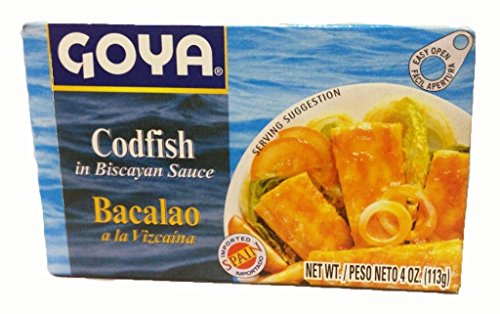 Goya Cod Fish In Biscayan Sauce, Bacalao Vizcaina 4 oz 3 Pack (Canned Cod Fish compare prices)