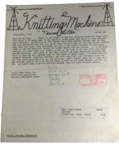 Studio Knitting Machine Newsletter Vol 53 March/April1964 (Studio Knitting Machine compare prices)