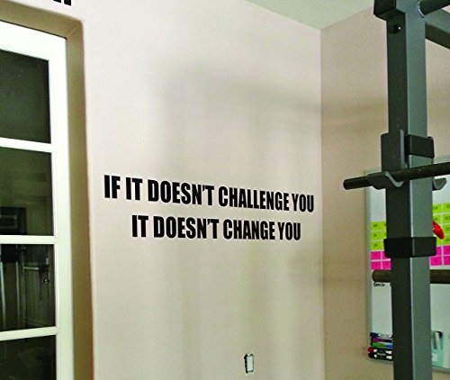 Fitness Decor, Gym Motivation Decal, work out sticker, If it Doesn't Challenge You. It Doesn't Change You.