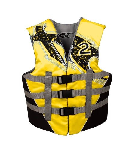 X20 Youth USCG Approved Floatation Life Vest (Yellow, 50-90-Pound)