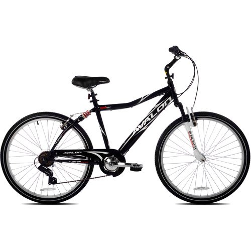 Lowest Prices! 26 Next Avalon Men's Comfort Bike with Full Suspension, Black