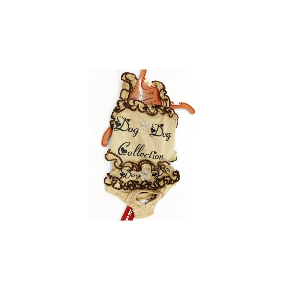 Cute Brown Color Pet Dog Clothing. Size Available in Small, Medium, Large