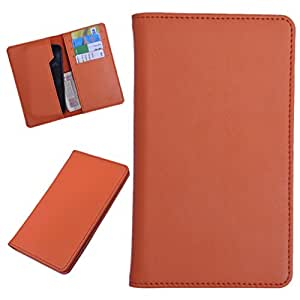 DSR Pu Leather case cover for Spice Stellar Glamour (MI-436) (orange)
