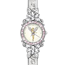 Disney Tinker Bell Reflections Of Time Crystal Watch by The Bradford Exchange
