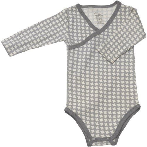 Petunia Pickle Bottom Long Sleeve Bodysuit - Happy Houndstooth (0-3 Months) front-909515
