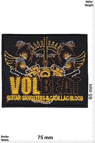 Patch - VOLBEAT- Guitar Gangster & Cadillac Blood - Musicpatch - Rock - Vest - Chaleco - toppa - applicazione - Ricamato termo-adesivo - Give Away