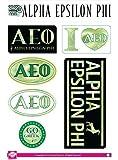 Alpha Epsilon Phi Sticker Sheet - Tie Dye Theme. 8.5