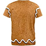 Gingerbread Man Costume All Over Adult T-Shirt - Large