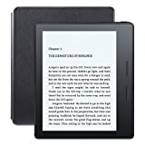 New – Kindle Oasis E-reader with Leather Charging Cover – Black, 6″ High-Resolution Display (300 ppi), Free 3G + Wi-Fi