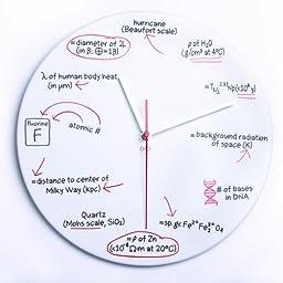 DCI Powder Coated Metal Science Quiz Clock, 11-1/2\