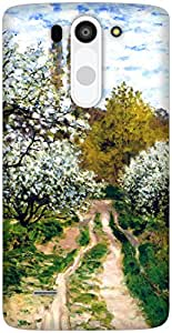 The Racoon Grip Trees in Bloom hard plastic printed back case / cover for LG G3 Beat