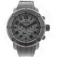 TW Steel TW128 Men's Grandeur Tech Black Rubber Chronograph Dial Watch