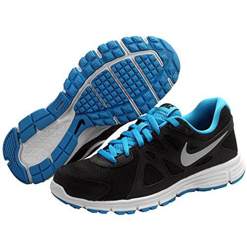 Nike Revolution 2 Gs Calzatura, Nero/Blu/Bianco, 39