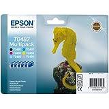 Epson Original T0487 Six Pack (Black, Cyan, Magenta, Yellow, Light Cyan, Light Magenta)