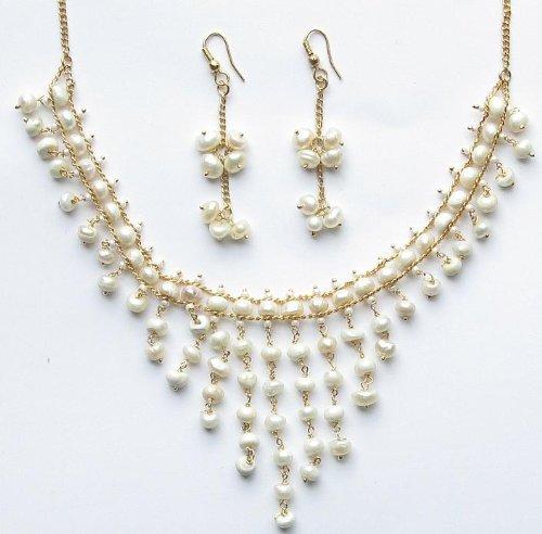 Trendy Freshwater Pearl Set White