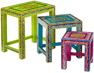 Kare 75152 Ibiza Life Side Table Set of 3