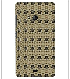 PrintDhaba Pattern D-5252 Back Case Cover for MICROSOFT LUMIA 540 (Multi-Coloured)