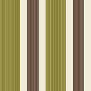 Green brown cream fd30272 sunflower stripe for Striped kitchen wallpaper
