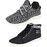 Earton COMBO Pack Of 2 Pair Men/Boys Black Sports Shoes With Casual Shoes - B01KWWP4L0