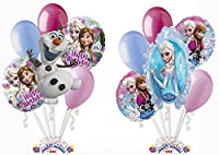 Disney Frozen Themed Balloon Bouquet Assortments (12 per Package) Pkg/1 from Party Magic USA.com
