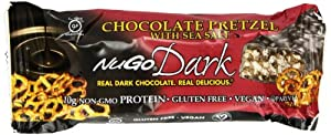 NuGo Dark Chocolate Pretzel, 1.76-Ounce (Pack of 12)