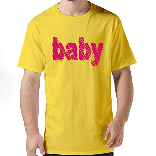 Men'S Baby Stripes Custom Made Yellow O-Neck By Dingding