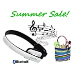CoolStream Bluetooth Headphones With Microphone. Wireless Headphones For IPhone, IPad And Samsung Galaxy. (White...