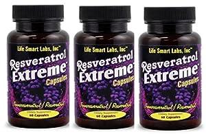 Resveratrol Extreme Complex 1000 MG -3 Bottles = 180 capsules
