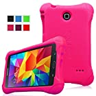 Fintie Samsung Galaxy Tab 4 8.0 Kiddie Case ¨C Ultra Light Weight Shock Proof Kids Friendly Cover for Samsung Tab 4 8-Inch Tablet, Magenta