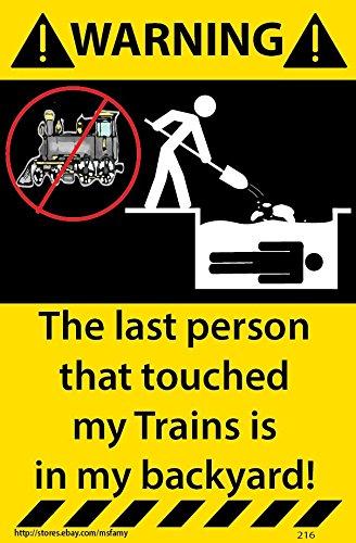 Train Warning Sticker Decal