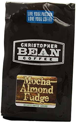 Christopher Bean Coffee Flavored Decaffeinated Ground Coffee, Mocha Almond Fudge, 12 Ounce
