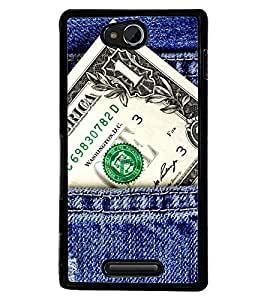Printvisa Money Power In Your Pocket Back Case Cover for Sony Xperia C::Sony Xperia C HSPA+ C2305