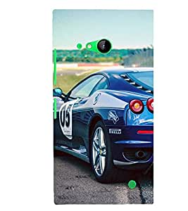 SPEEDING RACING CAR ON A CIRCUIT 3D Hard Polycarbonate Designer Back Case Cover for Nokia Lumia 730 :: Microsoft Lumia 730 :: Microsoft Lumia 735