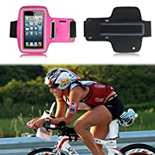 buy Waterproof Sport Gym Running Armband Case Cover Bag For Sony Smart Mobile Phone (Sony Xperia T2 Ultra Dual D5322, Pink)